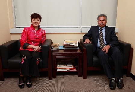 刘宝珍副总裁会见印度驻广州总领事馆领事奈尔先生